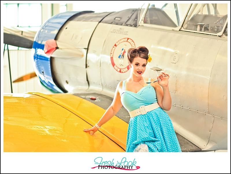 aviation museum photo shoot
