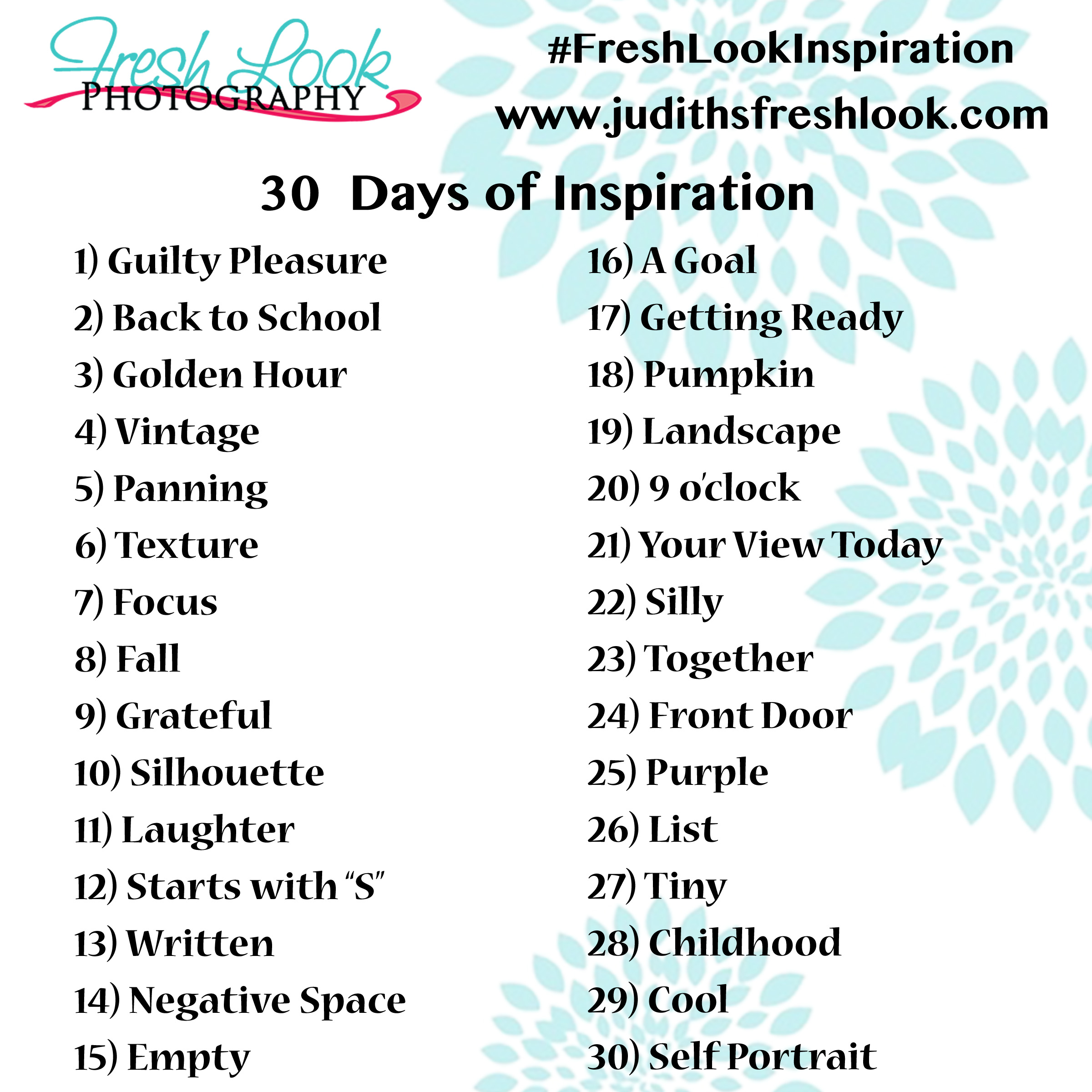 30 Day Blog Post Challenge 30 Day Photo Challenge