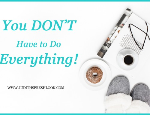 You Don't Have to Do Everything