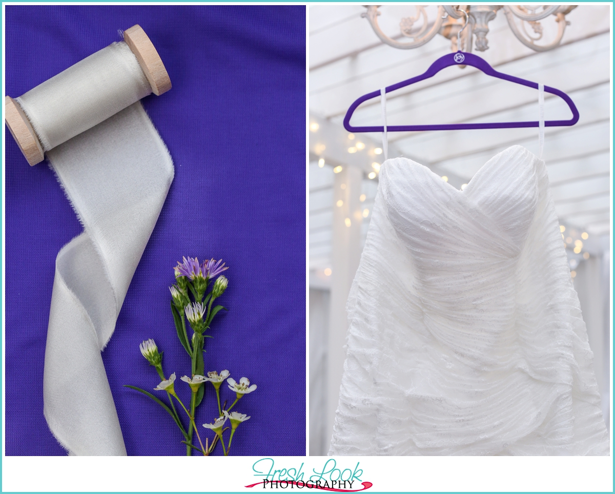 purple themed wedding day