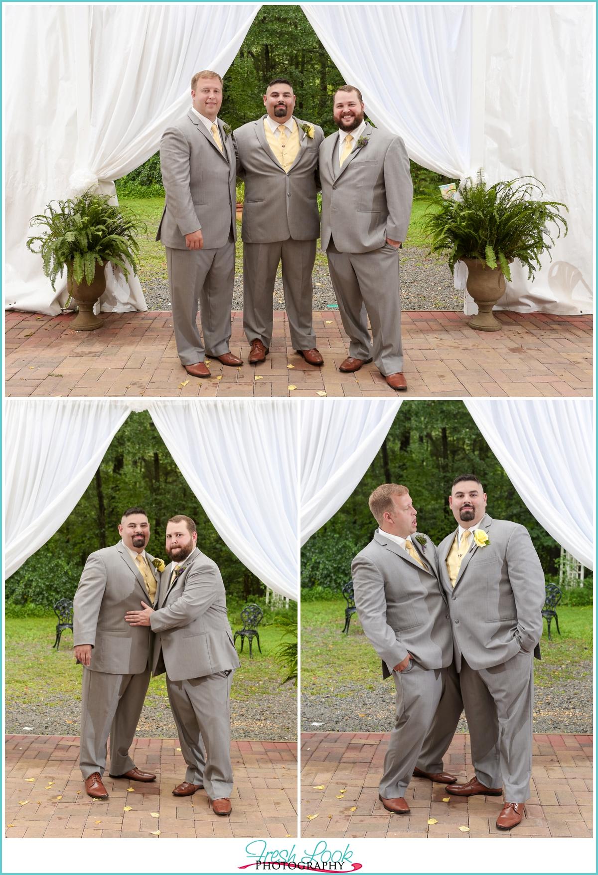 handsome groomsmen wedding day