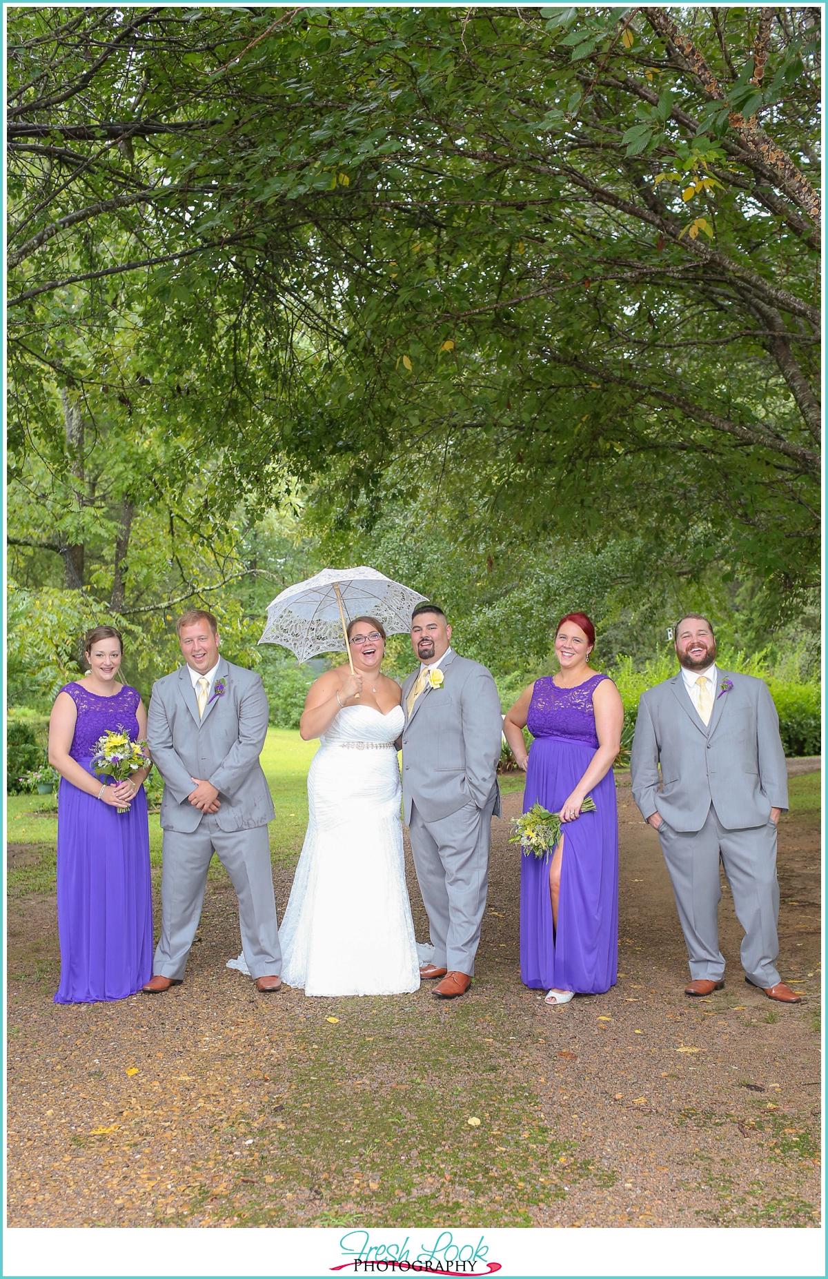 fun wedding day portraits