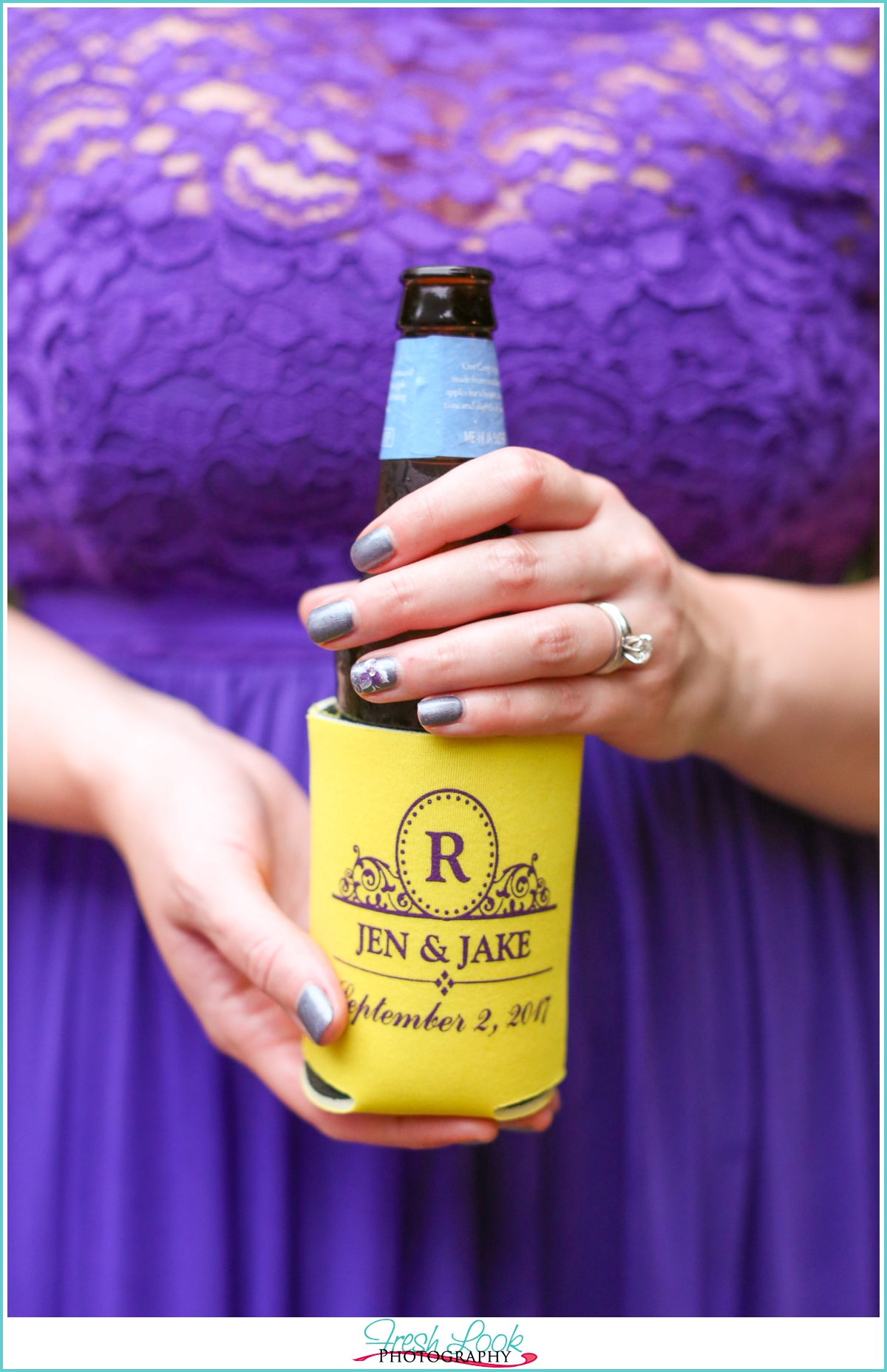 personalized wedding coozie