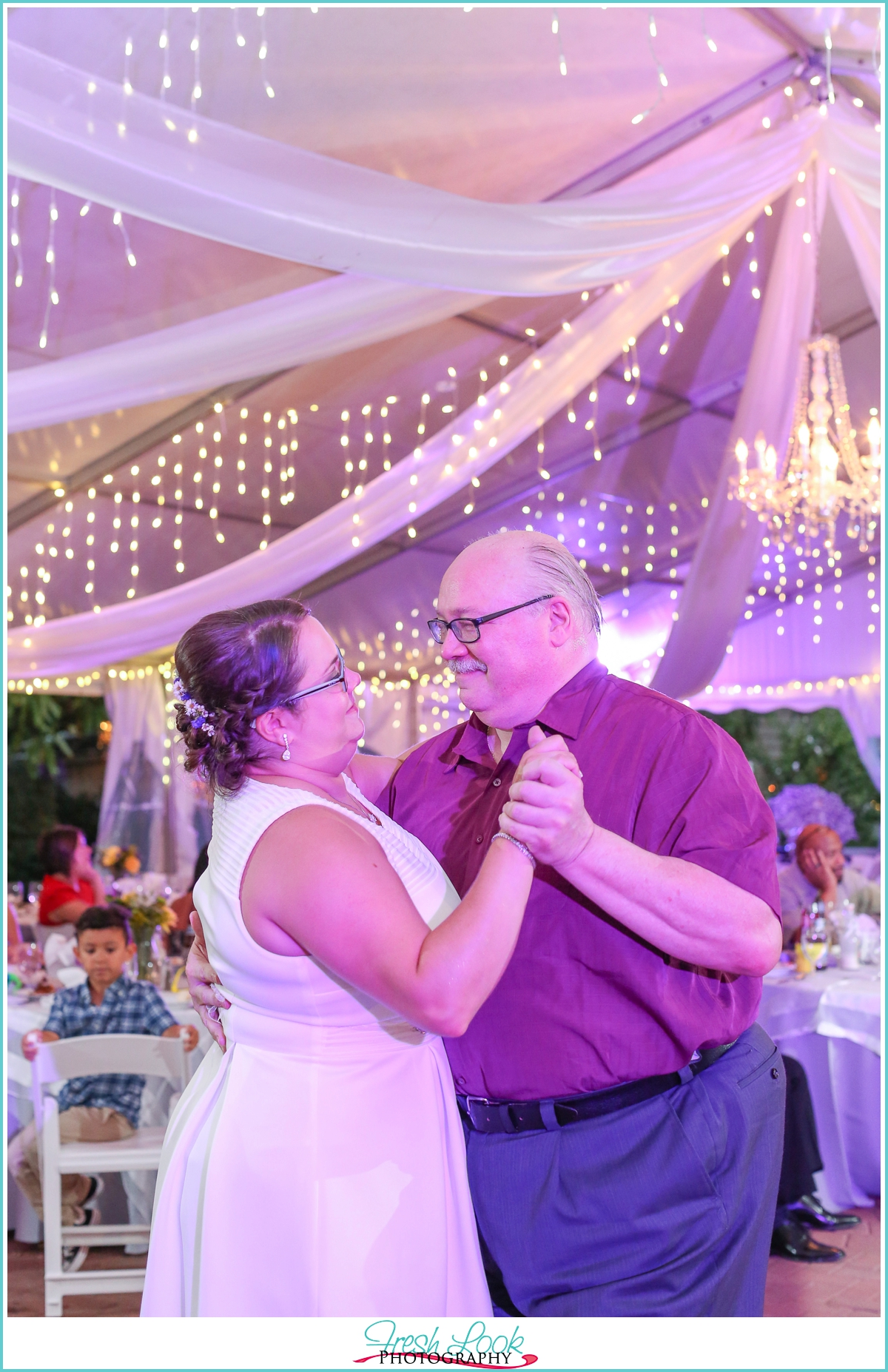 dancing with daddy at the wedding