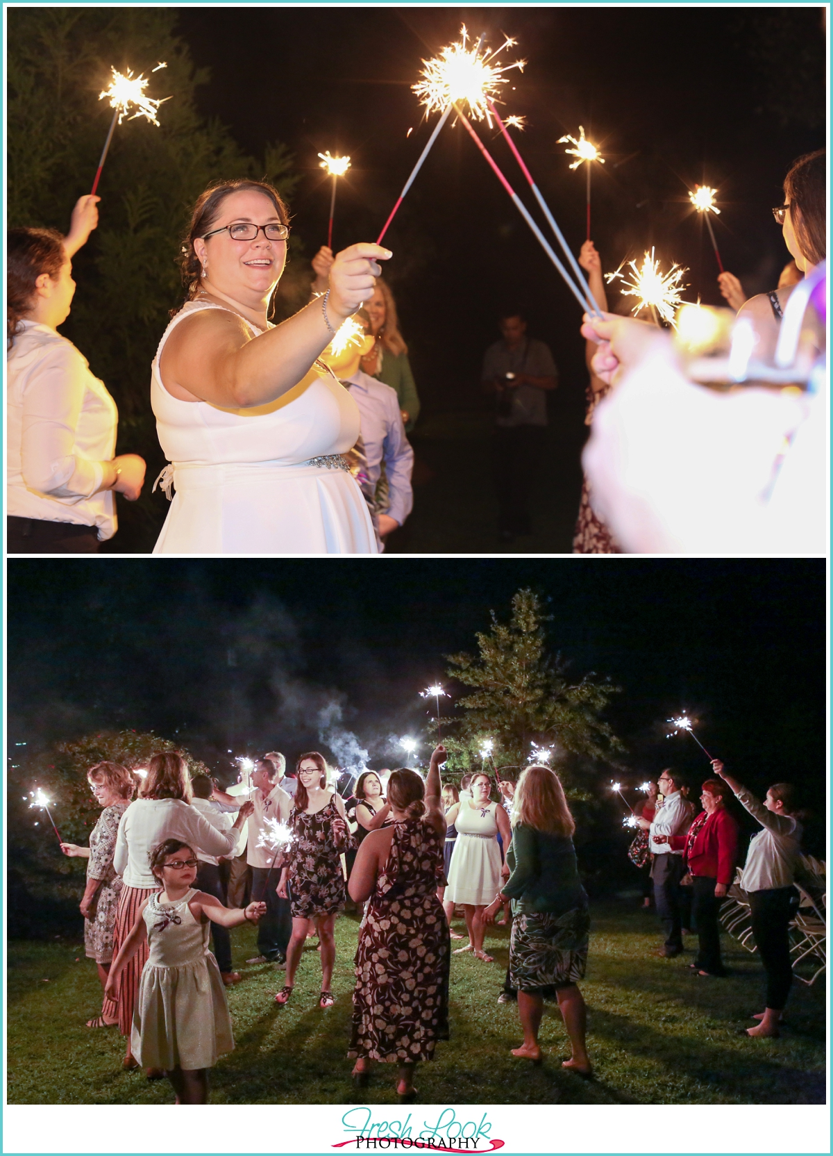 sparkler exit at the wedding
